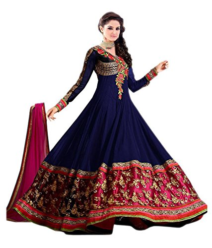 IndiaSeller Fashion Blue Color Georgette Anarkali