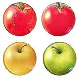 4 Stück Frisches Obst Zeit Edelstein Kalender Magnet Set