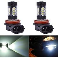 2 x H11 LED Niebla luz Bombilla 80W Auto Niebla Bombillas Lámpara 16 SMD 2828 LED Super Brillante Coche Conducción Niebla luz
