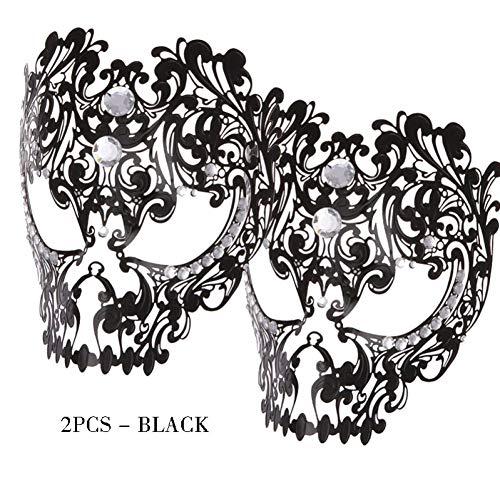 BINGSL Halloween/1/2 stücke Skeleton Gesichtsmaske mit Diamant für Frauen und männer cool kostüm Prom sexy Full face aushöhlen Maskerade schädel Maske