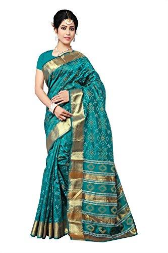 Urban India Green Patola Silk Saree