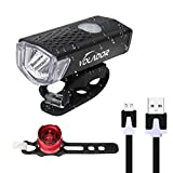 Best Bicycle Headlights - Volador Bicycle Front Light USB Rechargeable Bike Light Review