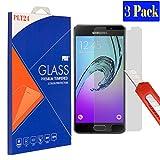 [3 Stück] plt24 Samsung Galaxy A5 2016 Bruchsicheres Panzerglas, Glasfolie, Schutzfolie, Schutzglas, Hartglas Gehärtetes, Glas Blasenfrei, Anti Kratzen, Ultra Klar