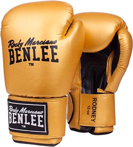 BENLEE Boxhandschuhe RODNEY PU Training Gloves - Gold/Black Größe 14