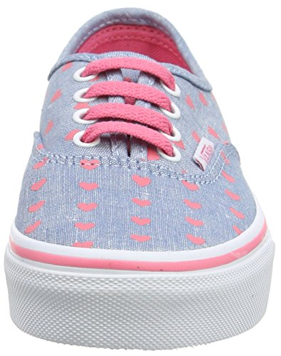 Vans Uy Authentic, Sneakers Basses Fille Bleu (Chambray Hearts)