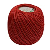 #10: Anchor Mercerised Knitting Cotton Fast colour-Dark red 50gx5-40570019