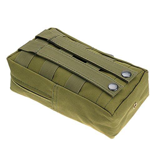 """Anmas Box 8 4.75 2"""" Militär Nylon Außen Armee Gürteltasche Beutel-fall Grün"""