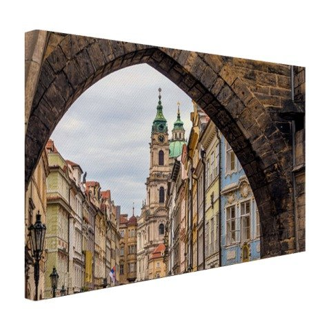 Historisches Zentrum Prag - Foto auf Leinwand - 80x60 cm (Verfügbare Formate: 30x20, 60x40, 80x60, 120x80) TOP-Qualität Leinwand bild! (Historisches Zentrum)