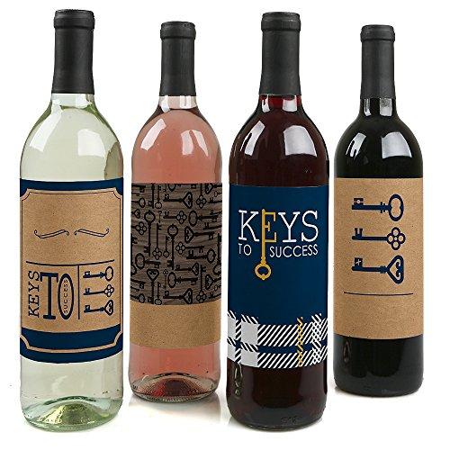 Erfolg-Wein Flasche Etiketten-Set von 4 ()