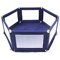 TikkTokk Pokano Fabric Playpen/Mat (Hexagonal, Blue)