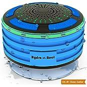 Hydro-Beat SYNCHKG095181, Duschradio - Hydro-Beat-Beleuchtung. IPX7 - vollständig wasserresistenter Bluetooth Radiolautsprecher mit LED- Beleuchtung. Aufladbar über Micro USB. (Blau und Schwarz)
