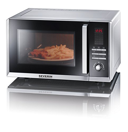 Severin M W7867 Micro onde avec grill/fonction d'air chaud 800 W Argent