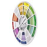 IPOTCH Tabella Di Miscelazione Della Ruota Di Colori Della Guida Di Corrispondenza Dei Colori Per L'attrezzo Di Mescolamento Del Mestiere