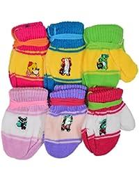 Crux&hunter 6 pair assorted infants woolen mitten