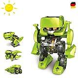 4 in 1 Dinosaurier Konstruktions-Bauset mit Solar, Roboter, Droide,Set Solar-Kit Elektrisches pädagogisches Konstruktions-Bau