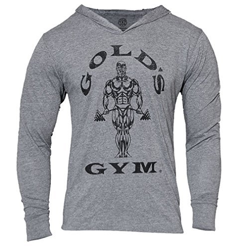 Golds Gym Tri Blend Hoodie, Farbe: VINTAGE GREY MARL, Gr: X LARGE