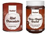 Xucker - 2er Schoko-Probierset (800 g) - Nuss Nugat Creme (600 g) und Trinkschokoladen-Pulver (200 g)