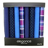 Retreez 8 Stück Reine Baumwolle Gemischte Taschentücher für Herren Geschenkset - Gemischte Set A5A001