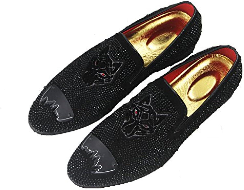 LQV Casual Schuhe der Männer Neue England Lok Fu Schuhe Atmungsaktive Punkt Bohren Vier Jahreszeiten Schuhe Rutschfeste