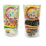 Wufuyuan Tapioca Pearl (Pack of 2) - Black and Color 500g