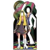 Star Cutouts - Stsc190 - Figurine Géante Passe-Tête En - Couple Disco 190 Cm
