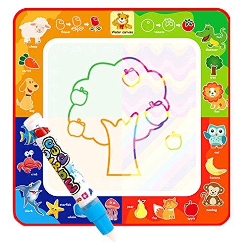 Elecenty Malen Spielzeug wasserbasierte magische Kritzelmatte,Zeichnung SchöNen Wasser Malerei Schreiben Matten-Brett Magic Pen Doodle Kinder-Spielzeug-Geschenk Kinderspielzeug Lernspielzeug (29cm, Mehrfarbig) (Liebe Foto-matte)