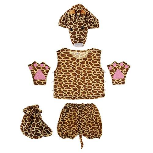 Giraffe Kostüm Kinder - MagiDeal Kinder Tier Kostüm - Giraffe
