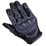 Juicy Trendz Qualität Schutz kurze Ledermotorradhandschuhe Motorrad Handschuhe schwarz Medium