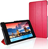 JETech Gold Slim-Fit Smart Case Cover for Google Nexus 7 2013 Tablet w/Stand and Auto Sleep/Wake Function (Red)