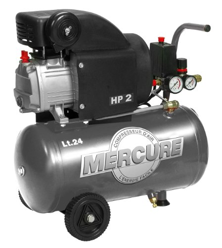 Mercure 425063 Compresseur 24 L 2 hp mercure Gris