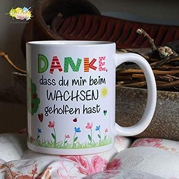 Kaffeebecher ~ Tasse – DANKE, dass du mir beim Wachsen geholfen hast ~ Kindergarten ~Weihnachten Geschenk