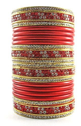 Sukriti Bridal Red Lac Chura Bangles for Women -Set of 20…