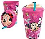Vaso Minnie Disney 430ml 3D Pajita