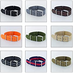 G10 NATO MOD NYLON WATCH STRAP, Choice of Styles & Sizes