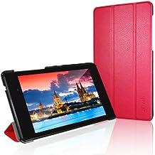 JETech Gold Nexus 7 Slim-Fit Smart Case Cover funda carcasa con incorporado de atri y doble protección para Google Nexus 7 2013 Tablet (Rojo) - 0532