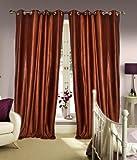 Home Elite Eyelet Fancy Polyester 2 Piece Curtain set (153X122 CM)