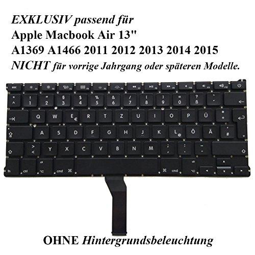 Ersatz GR deutsche Tastatur QWERTZ Tastatur für Apple MacBook Air 13