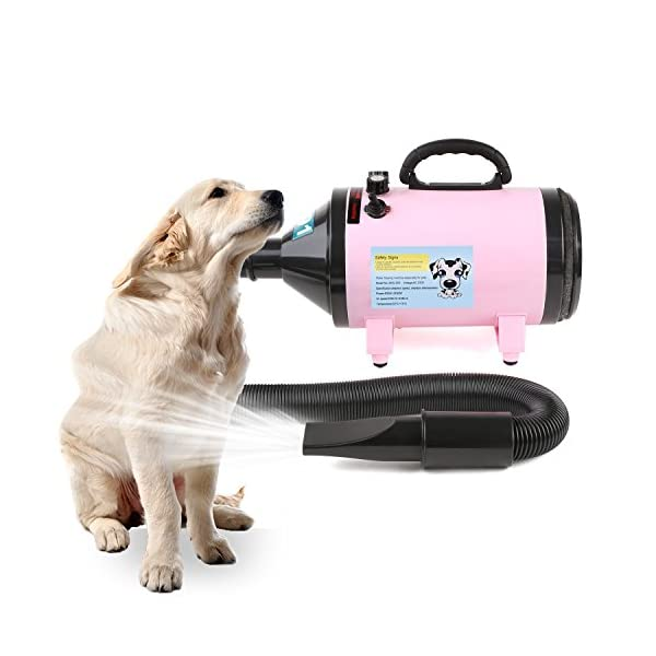 MVPOWER 2800W Dog Pet Grooming Hair Dryer Professional Hairdryer Blaster Washer Heater Pink 6