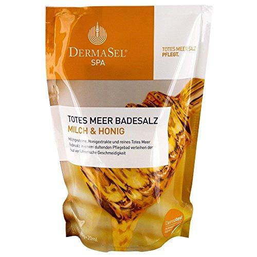 DERMASEL Totes Meer Badesalz+Milch&Honig SPA 1 P Kombipackung