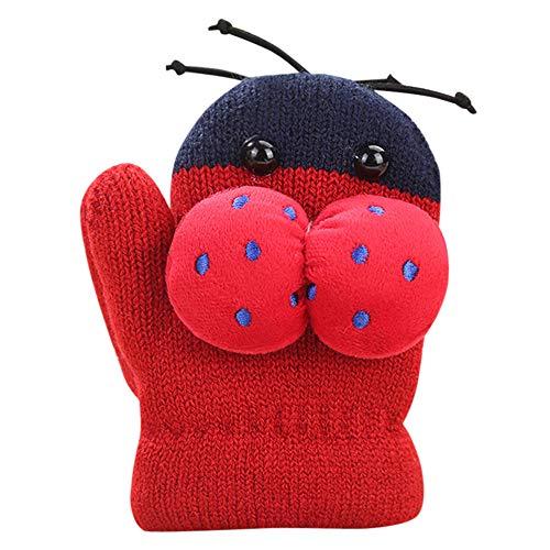 kleines Kind 0-3 Jahre Stricken Handschuhe, Quaan Säugling Niedlich Verdicken nähen Heiß Mädchen Jungen Von Winter Warm Gürtel Handschuhe