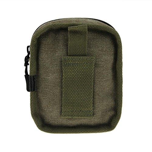 FakeFace Canvas Hüfttasche Fahrradtasche mit Karabinerhaken ohne Tragegurt Radtasche Tasche für Radfahren Reisen Joggen Wandern Armeegrün