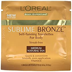 LOreal Paris Sublime Bronze Towelettes, Medium