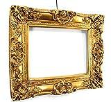 Barock Bilderrahmen Gold 60x50/ 30x40 cm (Antik) Im Retro-Vintage look durch Handarbeit hergestellt für Künstler, Maler. Idealer Gemälde-Rahmen für Ausstellungen STAR-LINE®