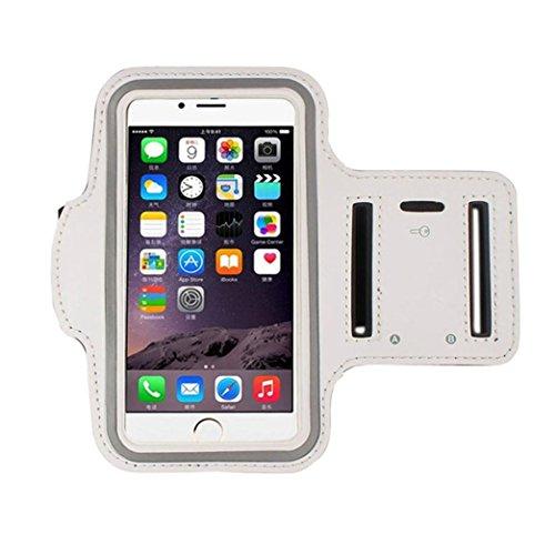 Tongshi Para iphone 7 Plus 5.5 Inch, Brazalete Running Sport caso de la cubierta del brazal (Blanco)