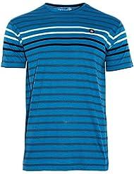 Camiseta BORTH, Hombre, Azul / Rayas, Manga corta (L)