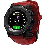 Parnerme GPS Running Watch Pulsmesser Handgelenk Sportuhr Smart Benachrichtigungen GPS Smart Watch für M?nner Frauen Multi-Sport-Modi Kompatibel Telefon mit 3-4 Tage Standby-Ladestation (Red)