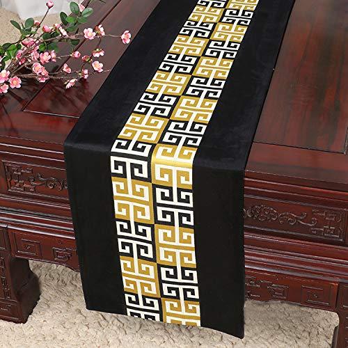 e Ölgemälde Tisch Couchtisch TV Schrank Bett Flag Tisch Tuch Tuch Nordic pastoralen Veranda Abdeckung Handtuch schwarz 13x79 Zoll (33x200 cm) ()