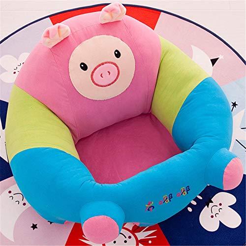 Yeying123 Coussin de bébé siège de Soutien en Peluche bébé Doux Sofa Nourrisson bébé apprenant à siéger Chaise siège Dinant Chaise Coussin,Pig,L