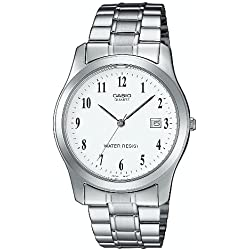 Casio-MTP - 1141PA - 7BEF-Collection Men's Watch Analogue Quartz Silver Steel Strap White Dial