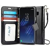 Custodia Galaxy S8 Plus, J&D [Portafoglio Stand] [Sottile Adatta] Protettiva Robusta Antiurta Flip Custodia per Samsung Galaxy S8 Plus - Nero